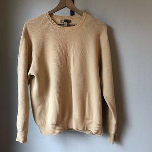 Joe by Joseph Abboud Cream Cotton Sweater